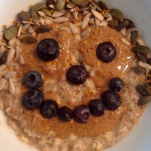 Picture of smiley face in porridge